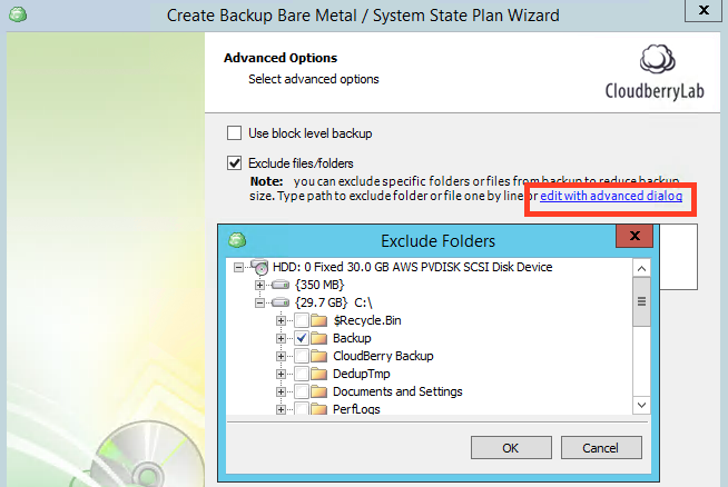 Exclude files using tree view