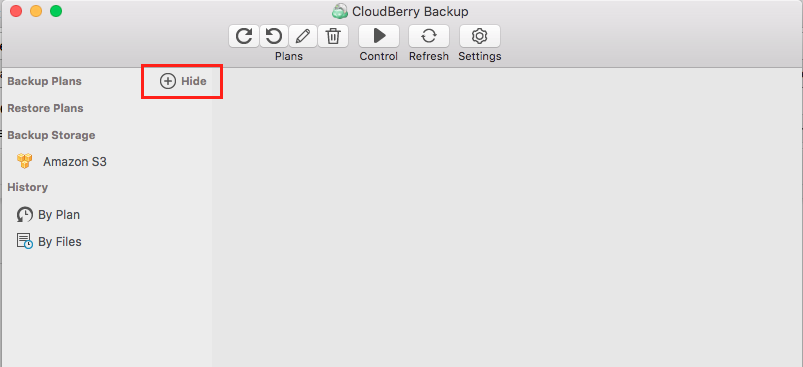 Configuring Time Machine backup - CloudBerry Backup - step 1