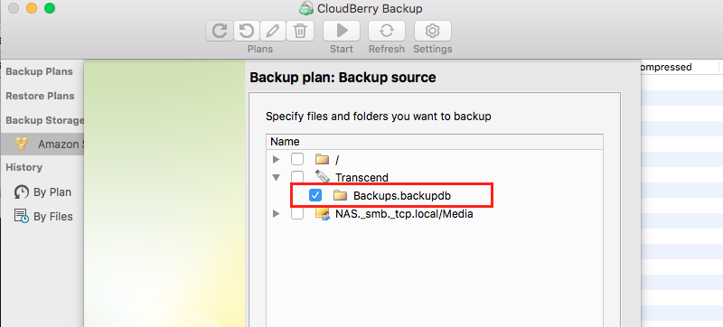 Configuring Time Machine backup - CloudBerry Backup - step 3