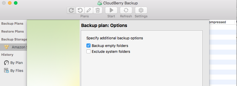 Configuring Time Machine backup - CloudBerry Backup - step 4
