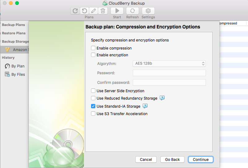 Configuring Time Machine backup - CloudBerry Backup - step 6