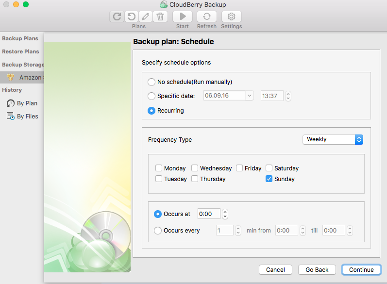 Configuring Time Machine backup - CloudBerry Backup - step 7