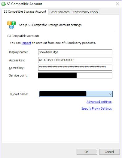 S3 compatible accounts