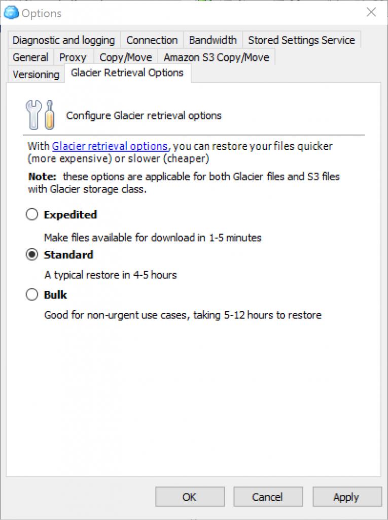 retrieval-options-selection