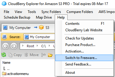 CloudBerry Explorer for Amazon S3 switch to freeware