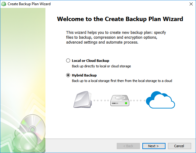 Backup Wizard MSP360 Backup 5.6