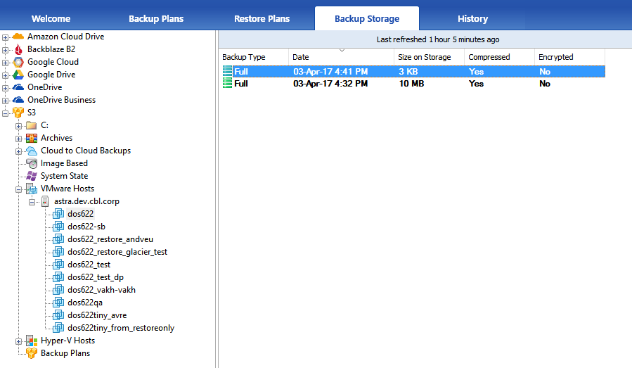 File-Level Restore for VMs Backed up from ESXi Servers