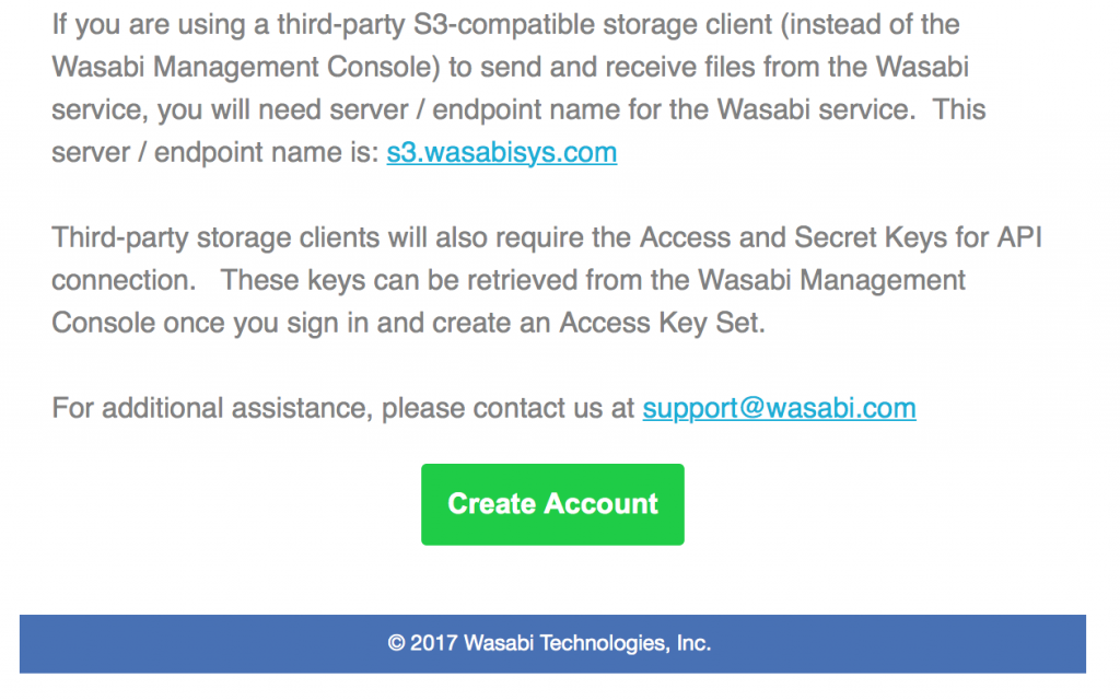 Support for Wasabi storage in CloudBerry Backup & Explorer