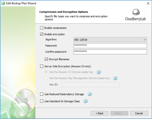 use backup encryption to protect against ransomware