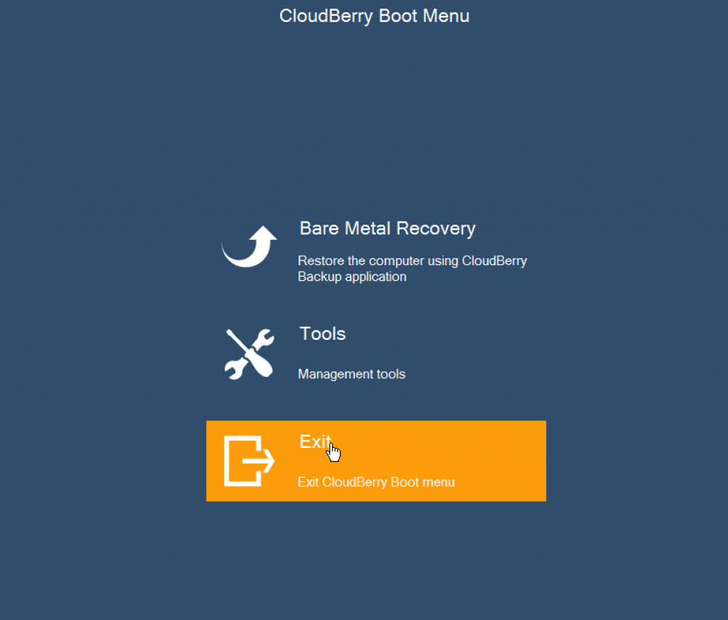 windows server recovery is complete