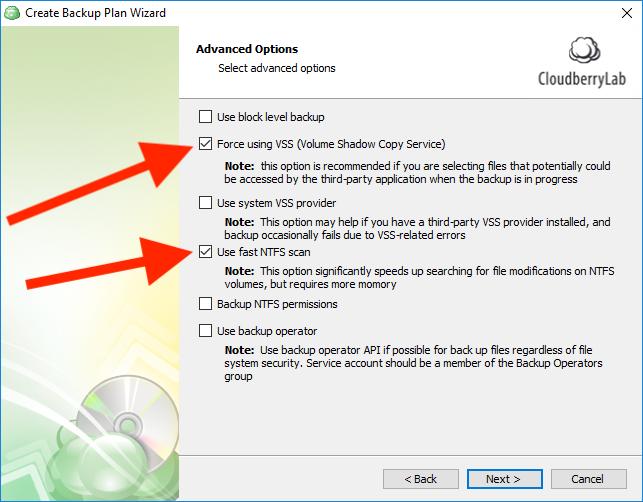 Use fast NTFS scan