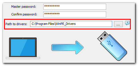 Creating Windows Server bootable USB: specifying path to drivers