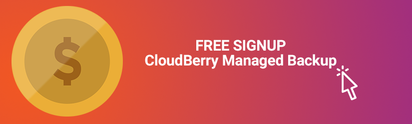 Free signup to cloudberry managed backup service