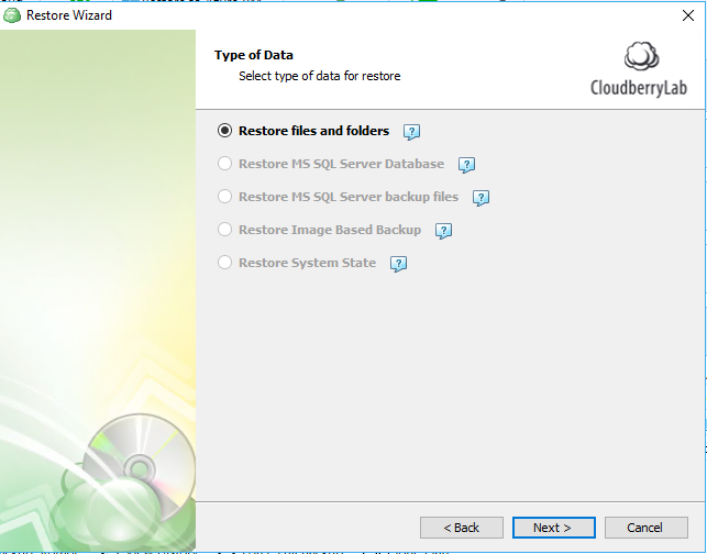 restoring from windows 10 cloud backup step 4