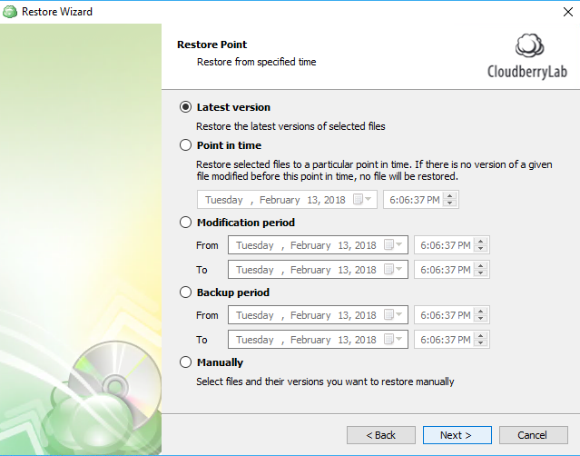 restoring from windows 10 cloud backup step 5