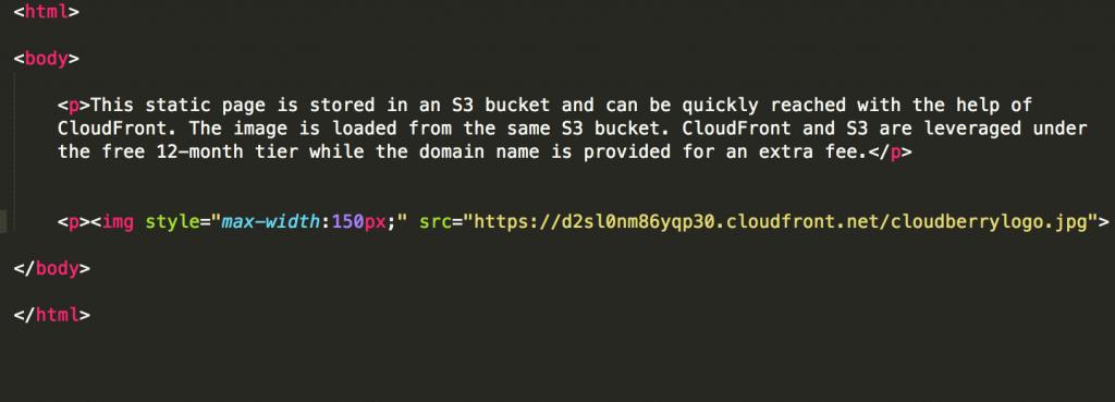 sample HTML file
