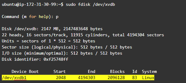 Resize Linux partition: run fdisk command