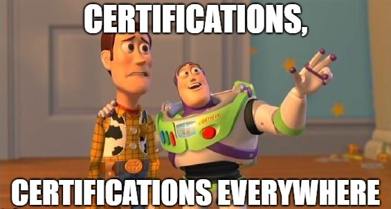 cloud certifications meme