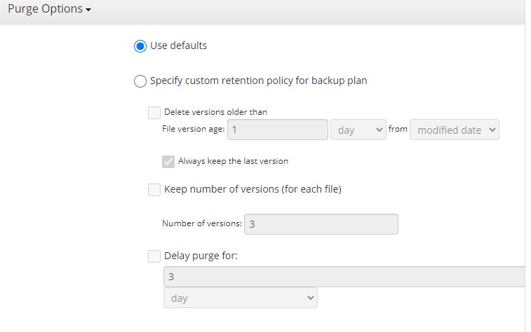 MSP360 Managed Backup Service: Custom Settings: Image-Based BackupBackup Service: Microsoft Exchange Backup
