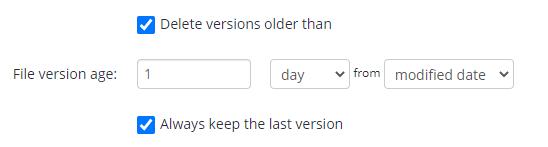 MSP360 managed Backup Service: File Age