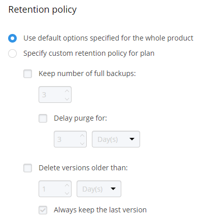 MSP360 MSP360 Managed Backup Service: Custom Settings: Image-Based BackupBackup Service: Custom Settings: SQL Server Backup