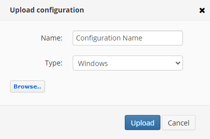 Remote Deploy in Managed Backup Service: Configuration Uploading