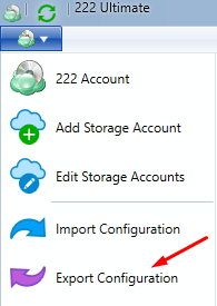 Remote Deploy in Managed Backup Service: Configuration Exporting