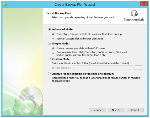 Multiple Scheduled Backups with CloudBerry Backup. Advanced Mode settings