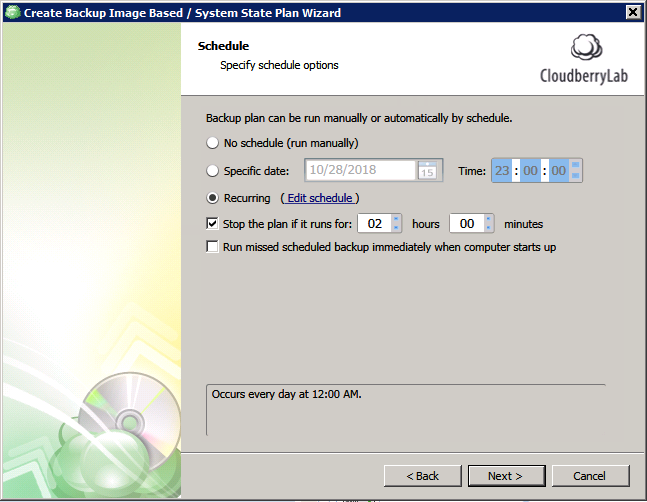 Windows Server 2008 System Restore Point