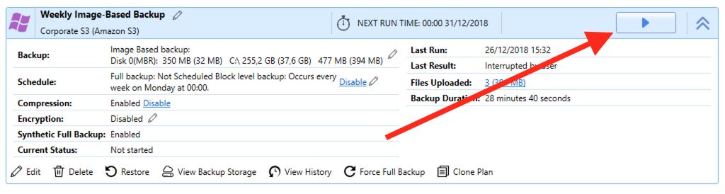Resuming Image-Based Backup in MSP360 Backup 6.0