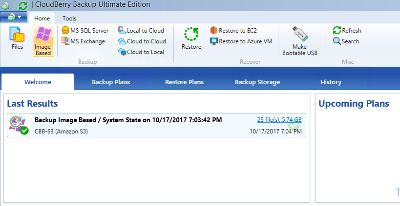 Windows Server 2003 Image Backup with CloudBerry Backup