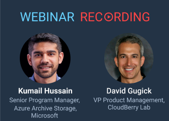CloudBerry Lab webinar with Azure Storage