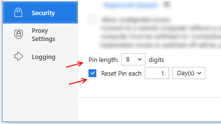 CloudBerry Remote Assistant PIN Improvements