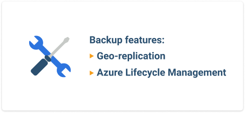 Azure storage backup features
