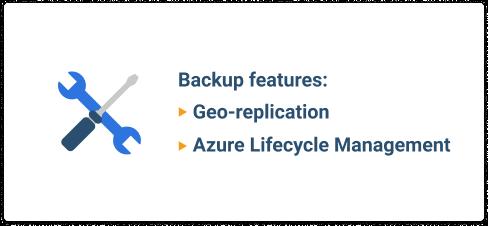 Azure storage backup features