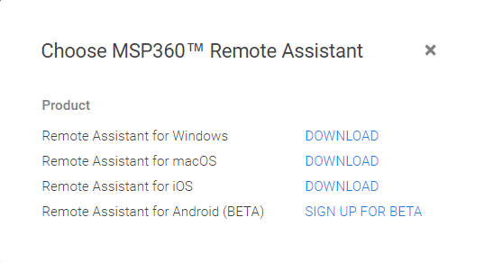 How to Activate MSP360 Remote Assistant