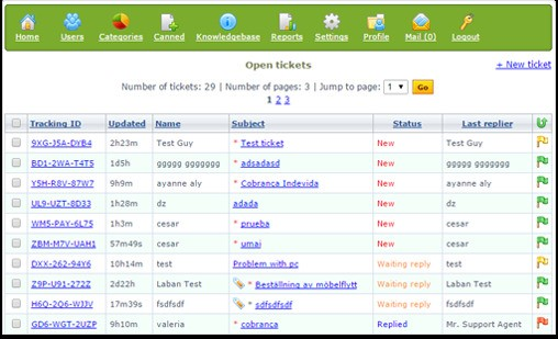 Hesk free helpdesk ticketing system - screenshot