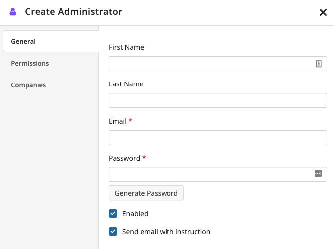 Improved Administrators Tab