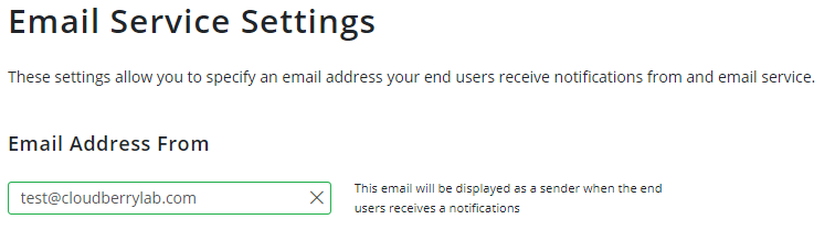 Email Service Settings of MSP360 Managed Backup