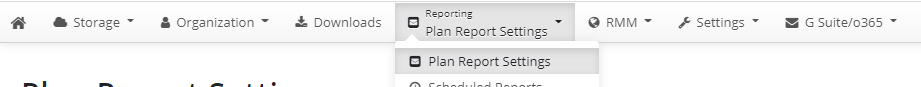 Finding Plan Report Settings
