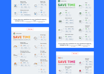 Keyboard Shortcuts Posters for MSP Customers