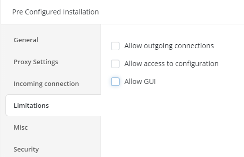 Setting Up Limitations in Managed Remote Desktop