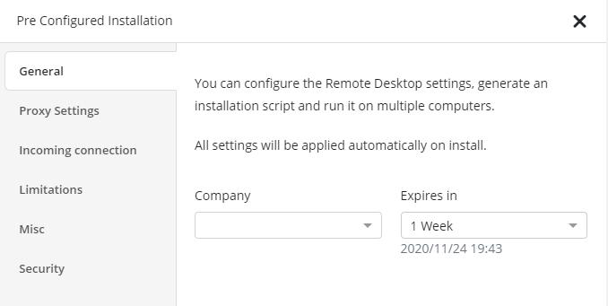 Managed Remote Desktop: Build Existence