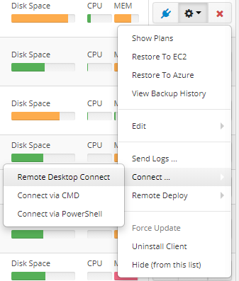 MBS Remote desktop connect