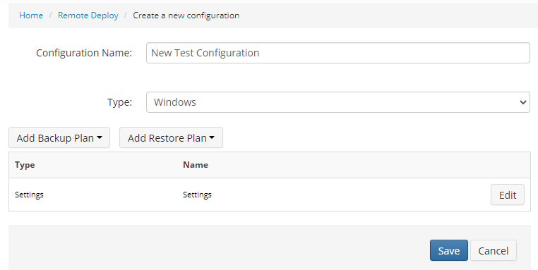 Remote Deploy in Managed Backup Service: New Configuration