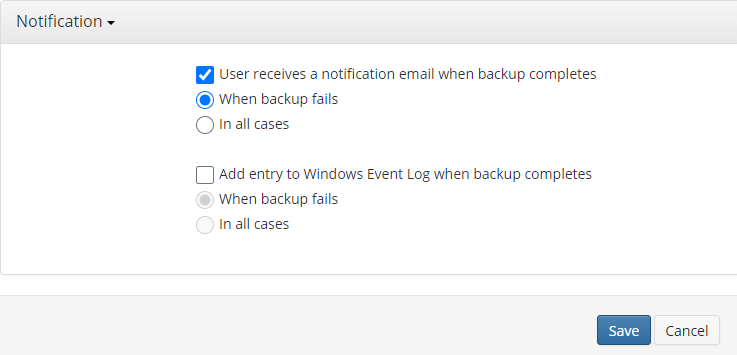 Remote Deploy in Managed Backup Service: Notifications