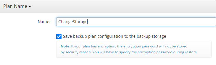 Naming a Plan in Managed Backup Service