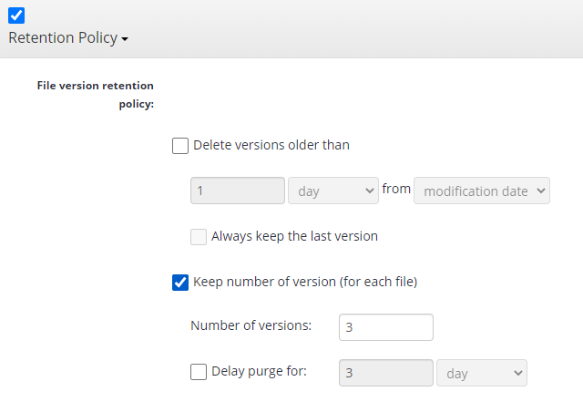 Remote Deploy in Managed Backup Service: Setting Up Retention Policy