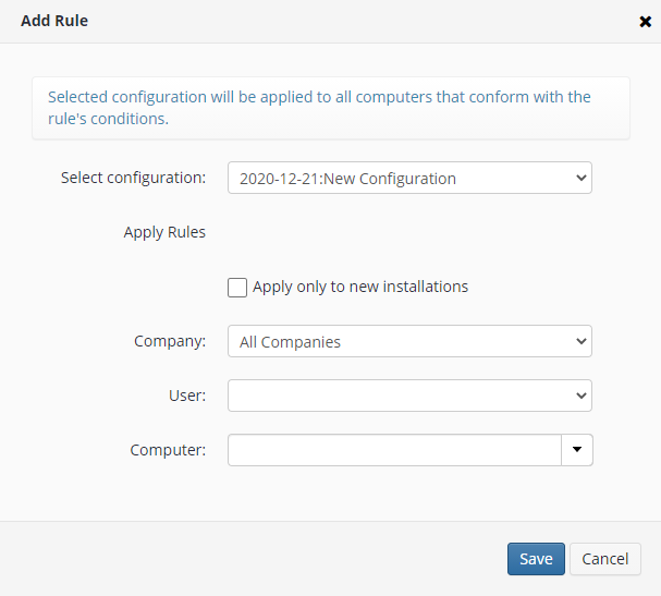 How to Add a Rule for Remote Deploy in Managed Backup Service
