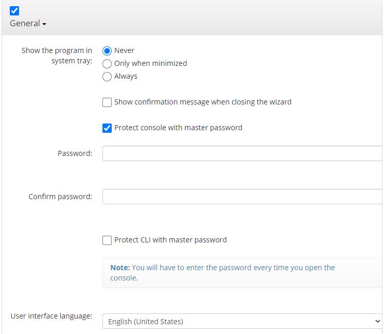 Remote Deploy in Managed Backup Service: General Options